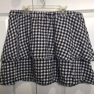 Navy & White Gingham Madewell Skirt Size L